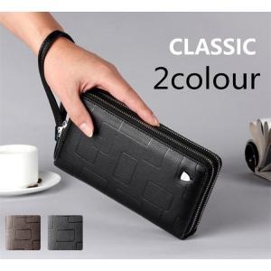 長財布 財布 メンズ ビジネス財布 ウォレット 二つ折り財布 紳士用 大容量 メンズ財布 メンズ長財布 メンズファッション 送料無料|cobalt-shop