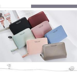 財布 二つ折り財布 レディース コンパクト財布 ミニ財布 大容量 小銭入れ プレゼント|cobalt-shop