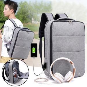 リュックサック メンズリュック USB充電口 2way 手提げ ビジネスリュック ディパック バックパック 防盗 大容量 通学 通勤 cobalt-shop