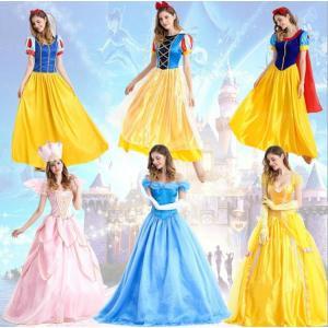 シンデレラドレス女性用 ディズニープリンセス Cinderella コスプレ衣装 シンデレラ 大人用 コスチューム ハロウィン コスプレ 仮装 大人 ドレス|cobalt-shop