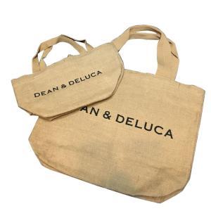 DEAN&DELUCA ディーン&デルーカ バッグ  麻 cotton コットン  Lサイズ トート お買いもの|cobalt-shop