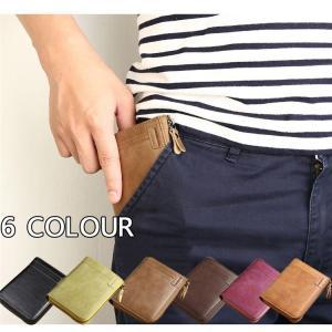 財布 メンズ 本革レザー 二つ折り ラウンドファスナー 小銭入れ  大容量 プレゼント ギフト牛革 財布|cobalt-shop