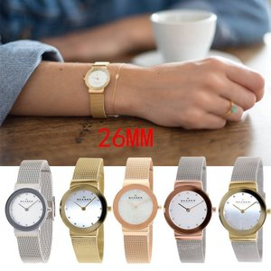 スカーゲン レディース スワロフスキー メッシュベルト 文字盤 腕時計 358SGGD 358SGSCD 358SRRD 358SRSC 358SSSD  安心一年保証