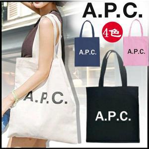 A.P.C shopping bag トートバッグ キャンバス ロゴ ショッピングバッグ  レディース 大きめ 通勤 通学 ビジネスバッグ 肩掛け シンプル 鞄  母の日|cobalt-shop