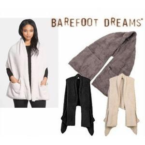 ベアフットドリームス Barefoot Dreams CozyChic Travel Shawl 553 ショール ポケット付き レディーズ|cobalt-shop