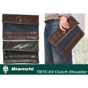 クラッチバッグ ビアンキ Bianchi 2way ショルダーバッグ クラッチバッグ メンズ レディース TBTC-03 cobalt-shop