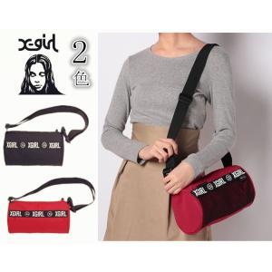 エックスガール X-girl ショルダーバッグ MINI SHOULDE DUFFLE BAG 斜めがけ レディース、軽量、アウトドア  お出かけ|cobalt-shop