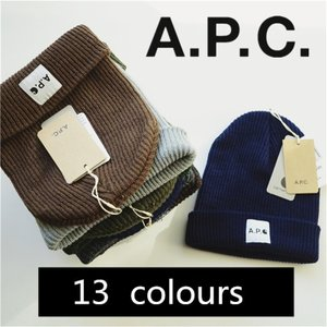 A.P.C/アーペーセーニット帽 APC ビーニー キャップ ユニセックス    お出かけ 旅行 13色揃い  帽子|cobalt-shop