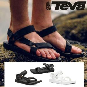 TEVA テバ ORIGINAL UNIVERSAL オリジナルユニバーサル メンズ サンダル 黒 白 ぺたんこ おでかけ 旅行 父の日 ポイント消化|cobalt-shop