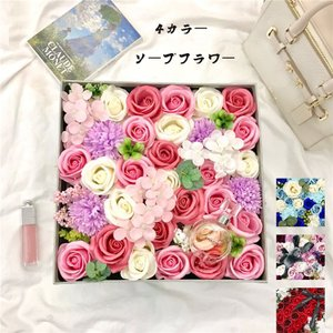 花束ソープフラワー 造花 石けん 花束  プレゼント 結婚祝い 誕生日 就職祝い 退職 プレゼント お祝い|cobalt-shop