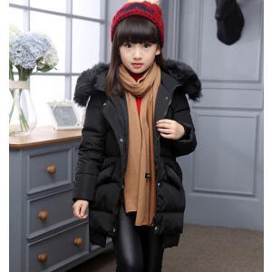 ダウンコート 子供服 女の子 ダウンジャケット ファー付き ロング 通学 キッズ服 防寒 秋冬 cobalt-shop
