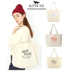 MAISON KITSUNE(メゾンキツネ)のトートバッグです。    キャンバス地で使いやすく、様...