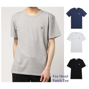メゾンキツネフォックス ヘッド パッチ MAISON KITSUNE FOX HEAD PATCH メンズ Tシャツ 半袖 クルーネック/ 全3色  父の日|cobalt-shop