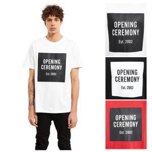 Opening Ceremony オープニングセレモニー メンズ Tシャツ トップス メンズ 海外ブランド 入手困難 バックプリント 定番|cobalt-shop