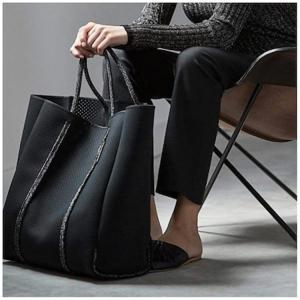 レディースバッグ  Lサイズ マザーズバッグ トートバッグ ビーチバッグ 大容量 ネオプレーン ネオプレンバッグ|cobalt-shop