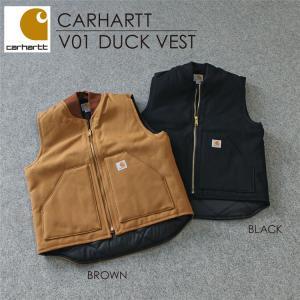 カーハート Carhartt V01 ダック ワークベスト (DUCK VEST 中綿 キルティング ベスト コットン)父の日|cobalt-shop
