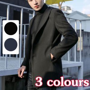 コート メンズ ジャケット チェスターコート  ビジネス イタリアンカラー イタリアンジャケット ウールコート メルトン送料無料|cobalt-shop