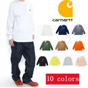 カーハートcarhartt メンズ トップス ロンT Long Sleeve Workwear Pocket T-Shirt カットソー Tシャ|cobalt-shop