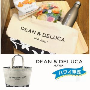 DEAN&DELUCA ディーン&デルーカ レディースHAWAII限定 ハイビスカス柄 トートバッグ 大人気  スモールサイズ  ハワイ  送料無料|cobalt-shop