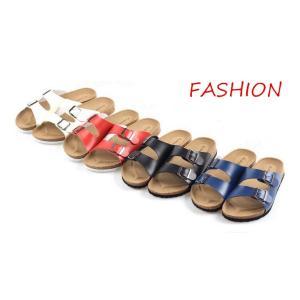 送料無料!ラットサンダル  コンフォート ダブルベルト ミュール  シューズ 靴 ピーチ用 スリッパ  レディース メンズ|cobalt-shop
