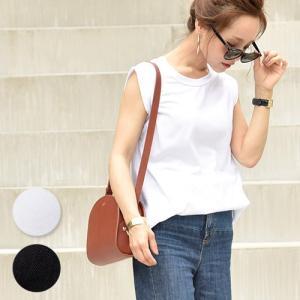 ノースリーブ タンクトップ カットソー Tシャツ 無地 綿100% コットン シンプル 16ss メール便可 akiico|cocacoca