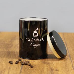コーヒー缶 オリジナル キャニスター缶 ブラック ロゴ入り 保存容器 雑貨 インテリア コクテール堂