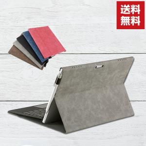 Surface Pro 7 手帳型 レザー おしゃれ マイクロソフト サーフェスラップトップ Mic...