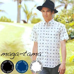 アロハシャツ かりゆしウェア メンズ(男性用)「maga-t...