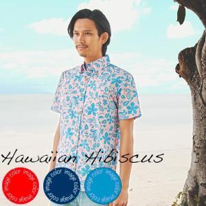 アロハシャツ かりゆしウェア メンズ(男性用)「Hawaii...