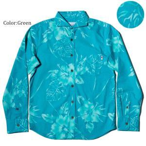 かりゆしウェア アロハシャツ メンズ(男性用) Hibiscus Shadow 全4色 沖縄結婚式にアロハシャツ 送料無料 coco-j