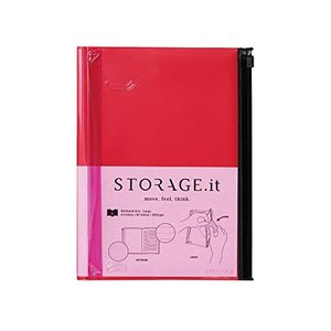Storage.it Notizbuch L - rot: Format: 21,6 x 16,4 [−] by|coco-ya