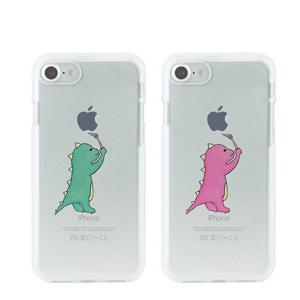 メール便送料無料 スマホケース iPhone ケース Dparks ソフトクリアケース お絵かきザウルス(ディーパークス)アイフォン カバー 恐竜|coco24