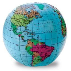Learning Resources Inflatable World Globe 地球儀 ビーチボール型 LER 2432 cocoatta