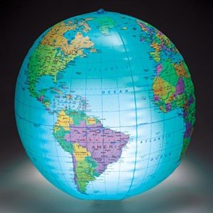 Learning Resources Inflatable Light-up Globe ライトアッ...