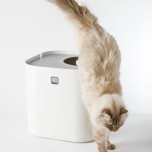 【あすつく】Modkat Litter Box 猫 猫トイレ トイレ スタイリッシュ 砂散らからない 上から入る ホワイト|cocoatta|06