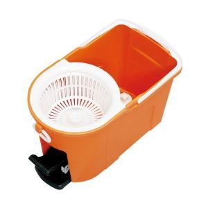 アイリスオーヤマ 洗浄×脱水!回転モップ 洗浄機能付き オレンジ KMO-490S