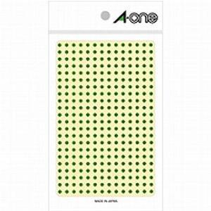 エーワン カラーラベル 3mm 丸型 緑 0...の関連商品10