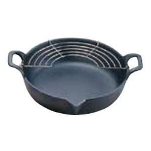 岩鋳 岩鋳 鉄 天ぷら鍋平底 27cm 25-102 ATV6802