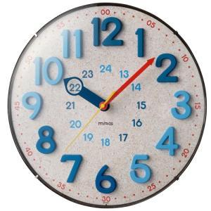 掛時計 ステップ ウォールクロック ノア MAG マグW-750 ナチュラル おしゃれ 見やすい 夜間静音 インテリア