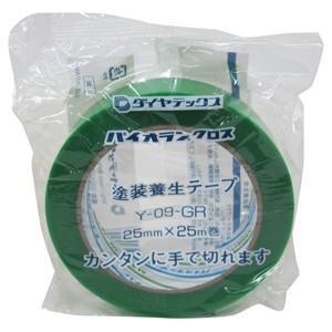 ダイヤテックス パイオランクロス 養生用テープ 25mm×25m 緑 Y-09-GR