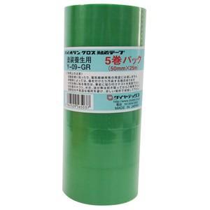 ダイヤテックス パイオランクロス 養生用テープ 50mm×25m 緑 5巻入 Y-09-GR