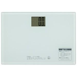 オーム電機 デジタル体重計 ホワイト HBK-T101-Wの画像