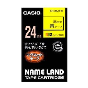 カシオ CASIO ネームランドマグネットテープ 24mm 黄 XR-24JYW