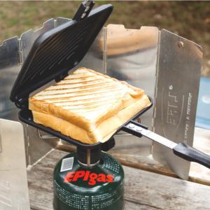 あすつく ヨシカワ 焼き目がサクサク ホットサンドメーカー SJ2408|cocoatta
