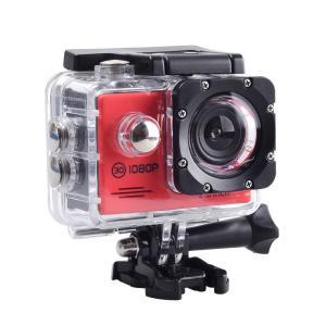 SAC フルHD 1080p 対応赤色 アクション カメラ 2インチ液晶 30M 防水ケース付き AC200RD cocoawebmarket