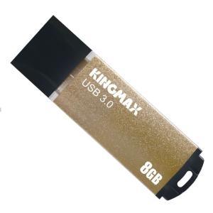 【ヤマト運輸ネコポスのみ】 KINGMAX USB3.0対応 USBメモリ 8GB キャップ式 ゴールド  シンプルデザイン アルミ製ボディ 日本語パッケージ KM08GMB03Y cocoawebmarket