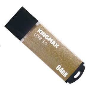 【ヤマト運輸ネコポスのみ】 KINGMAX USB3.0対応 USBメモリ 64GB キャップ式 ゴールド  シンプルデザイン アルミ製ボディ 日本語パッケージ KM64GMB03Y cocoawebmarket
