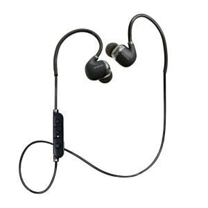 エレコム Bluetooth ブルートゥース イヤホン ワイヤレス aptX対応 高音質 通話対応 シュア掛け PureSound 1年間保証 ブラック LBT-HPC50ECBK|cocoawebmarket