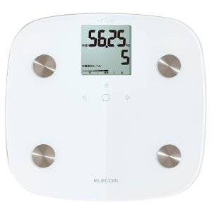 エレコム 体組成計 体重計 [Hello] 乗るだけ自動認識 ホワイト 簡易パッケージ HCS-CFS01WH|cocoawebmarket