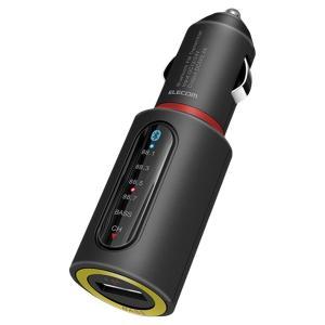 エレコム ELECOM  FMトランスミッター 高音質  Bluetooth ver4.2  急速充電対応 ブラック EC-FM01BK|cocoawebmarket